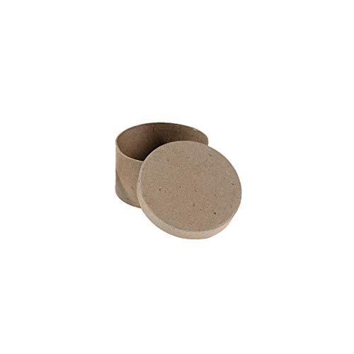 Darice Paper Mache Box Round 4 x 4 x 2 inch (6-Pack) 2833-33