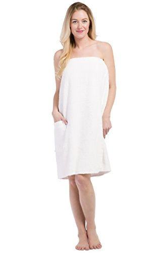 Fishers Finery Women's EcoFabric Resort Style Spa Wrap; Terry Cloth