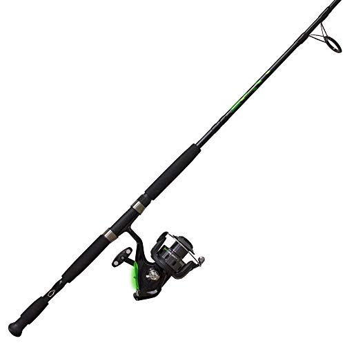 Zebco Bite Alert Spinning Reel and 2-Piece Fishing Rod Combo, Instant Anti-Reverse Fishing Reel, Size 60