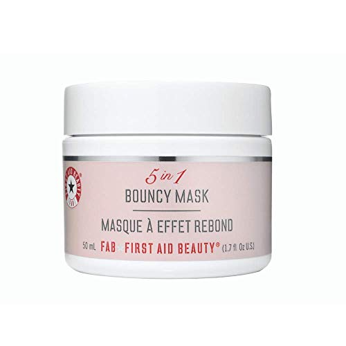 First Aid Beauty 5 in 1 Bouncy Mask: Gluten-Free Nourishing Acne Face Mask to Calm and Hydrate Skin. (1.7 ounce)