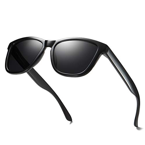 ELITERA Women Men Sunglasses Famous Lady Designer Gradient Colors Polarized Glasses UV400 E0717(Black&Gray)