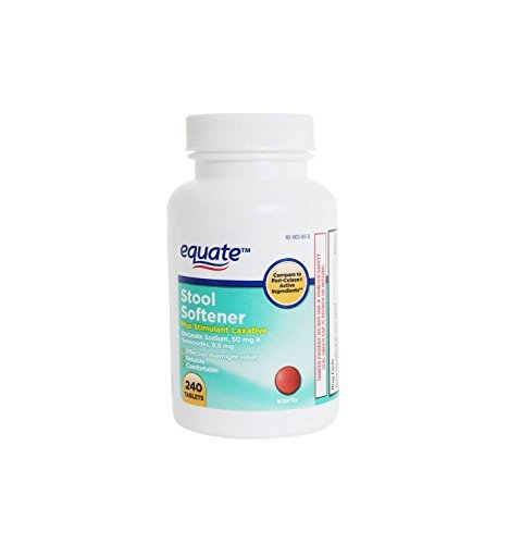 Equate - Stool Softener Plus Stimulant Laxative, 240 Tablets (Compare to Peri-Colace) by Equate