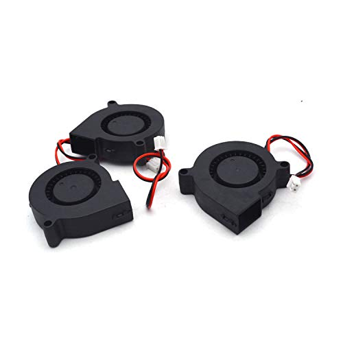 Antrader 12V Dual Ball Bearing Brushless DC Radial Blower Cooling Fan for DIY 3D Printer Extruder Humidifier 3-Pack