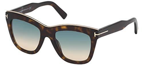 Sunglasses Tom Ford FT 0685 Julie 52P Shiny Dark Havana/Gradient Turquoise-To-, Shiny Dark Havana / Gradient Turquoise-to-sand Len, 52/20/140