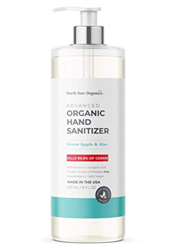 Hand Sanitizer | Made in USA | 65% Organic Alcohol | 8 oz