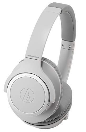 Audio-Technica ATH-SR30BTGY Bluetooth Wireless Over-Ear Headphones, Natural Gray