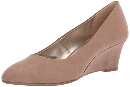 Bandolino Womens Fayola Wedge Heel Taupe Fabric 7.5 M