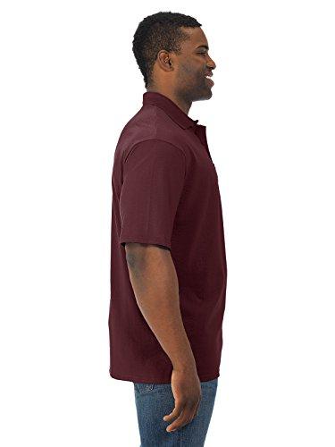 Jerzees 5.6 oz.; 50/50 Jersey Pocket Polo with SpotShield� - MAROON - XL