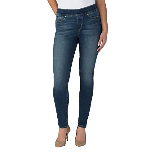 Signature by Levi Strauss & Co Women's Totally Shaping Pull On Skinny Jeans, Harmony, 14 Short