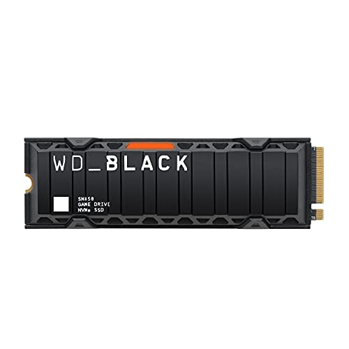 WD_Black 1TB SN850 NVMe Internal Gaming SSD Solid State Drive with Heatsink - Gen4 PCIe, M.2 2280, 3D NAND, Up to 7,000 MB/s - WDS100T1XHE