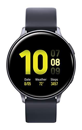 SAMSUNG Galaxy Watch Active 2 Smart Watch 44mm US Version GPS Bluetooth Advanced Health Monitoring Fitness Tracking Long-Lasting Battery, Aqua Black