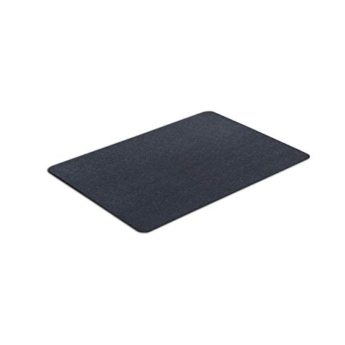 VersaTex Multi-Purpose Rubber Floor Mat for Indoor or Outdoor Use, Utility Mat for Entryway, Home Gym, Exercise Equipment, Tool Box Liner, Garage, Under-Sink, Patio, and Door Mat; 24' x 36', Black