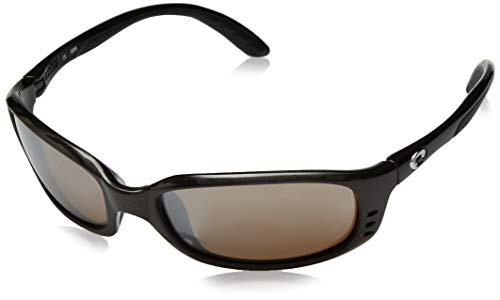 Costa Del Mar Men's Brine Oval Sunglasses, Gunmetal/Silver Mirror-580G, 59 mm