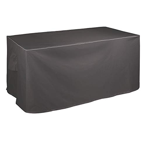 Leader Accessories Waterproof Deck Box/Storage Ottoman Bench Cover for Keter/Lifetime/Suncast/Rubbermaid Deck Box (XL 62in Lx 29in Wx 25in H, Grey)