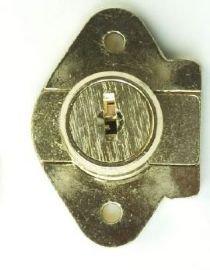 Corbin Cabinet Lock (CCL) 02067-US4-KA Deadbolt Drawer Lock, 7/8' Cylinder Length, Satin Brass - Keyed Alike