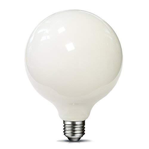 MRDENG Dimmable LED Light Bulbs 60 Watt Replacement,Large G40(G125) 6-Watt(60-Watt Equivalent) LED Bulb,E26 Socket,Soft White Globe Light Bulb (2700K) Pack of 1