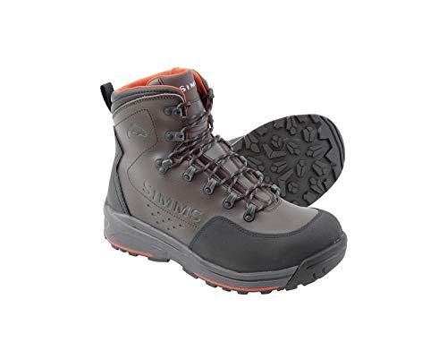 Simms Men's Freestone Wading Boots, Waterproof Rubber Sole, Dark Olive, 11