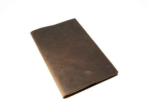 Moleskine Leather Journal Large 5' x 8.25' with Lined Pages Handcrafted Crazy Horse Leather Cover Vintage Writing Notebook for Men, Women, Travelers, Business