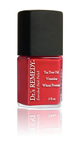 Dr.'s Remedy Organic Natural Red Nail Polish Long Lasting Antifungal Treatment for Nails CLARITY CORAL RED Antifungal Treatment For Toenail Fungus Formulated by a Physician Foot Therapy Restore Feet