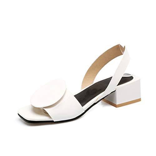 Women's Slingback Low Heeled Pump Sandals Simple Patent Leather Ladies Comfy Non-Slip Peep Toe Block Heels Sandal