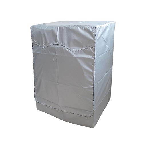 QLLY Washer/Dryer Cover for Front-loading Machine - Waterproof, Dustproof, Sun-Proof, W27'D33'H39'Suitable for most Washers/Dryers on US and Canadian market (Basic Silver)