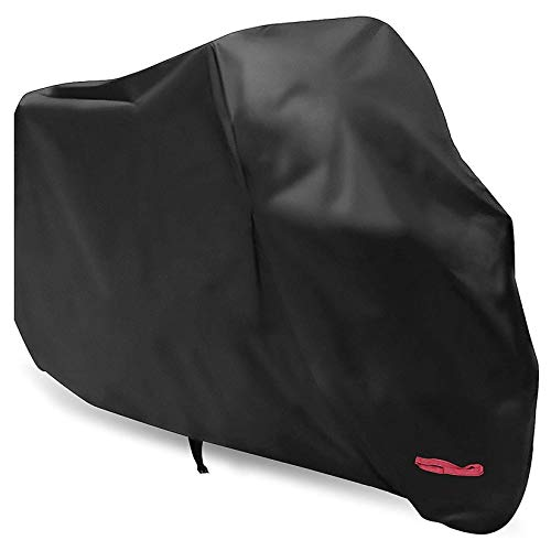 WDLHQC Motorcycle Cover, 210D Waterproof Motorcycle Cover All Weather Outdoor Protection,Oxford Durable & Tear Proof,Precision Fit for Length 87 inch