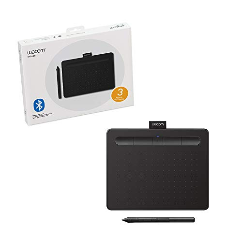 Wacom Intuos Wireless Graphics Drawing Tablet for Mac, PC, Chromebook & Android (small) with Software Included - Black (CTL4100WLK0)