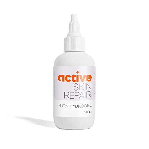 Active Skin Repair First Aid Burn Hydrogel - Natural, Non-Toxic, and No Sting Burn Relief Gel - Doctor Recommended Immediate Pain Relief (3 oz Gel)