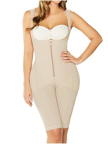 DIANE & GEORDI 2397 Fajas Colombianas Reductoras y Moldeadoras Post Surgery Liposuction Compression Garments Full Body Shaper for Women Beige 2XL