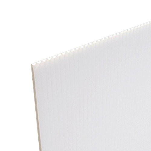 PRIME-COR-X Corrugated Plastic Plastic Sheet Board - Hard Plastic for Yard Signs, Posters 24' X 18' 10 White Sheets 4MM