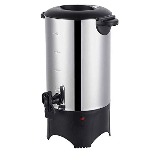Commercial Coffee Maker Urn 6 Liter High Capacity Stainless Steel Electric Server with Dispensing Spigot & Auto Shut Off - BPA Free - For Event Catering, Restaurant & Parties