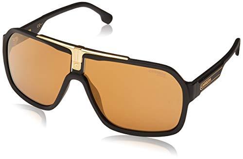Carrera Men's 1014/S Shield Sunglasses, Black Gold/Brown Gold, 64mm, 10mm