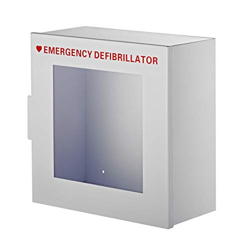 AdirMed Non-Alarmed Steel Cabinet Defibrillators 15' W x 15' H x 7' - Standard Wall Mounted Enclosure - Easy Access Storage for Emergency Situation for Home & Office