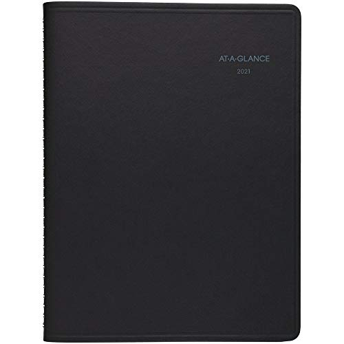2021 Weekly & Monthly Appointment Book & Planner by AT-A-GLANCE, 8-1/4' x 11', Large QuickNotes, Black (769500521)
