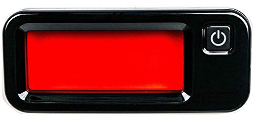 Hidden Camera Detector - Anti Spy Finder Large Infrared Viewer and 12 Super Bright Red LEDs. Travel Size Pro Security and Privacy for AirBnB, Hotels, Bathrooms. Search quickly & easily with both eyes.