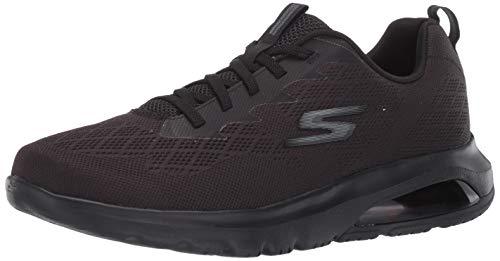 Skechers mens Gowalk Air Nitro - Athletic Engineered Mesh Bungee Lace Sneaker Walking Shoe, Black, 12 X-Wide US
