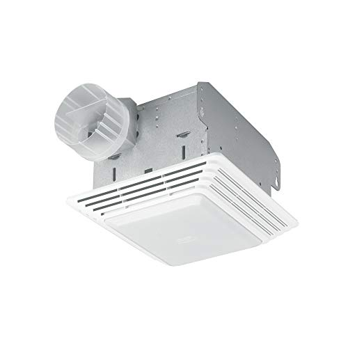 Broan-NuTone HD80L Heavy Duty Ventilation Fan Combo for Bathroom and Home, 100-Watt Incandescent Light, 80 CFM, Matte White