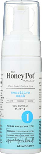 The Honey Pot Company Sensitive Wash   Herbal Infused Feminine Hygiene Natural Wash for Sensitive Skin Types   PH Balanced Plant Based Wash Free from Parabens and Sulfates   5.51 Fl Oz