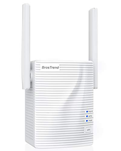 BrosTrend WiFi Extender 1200Mbps Internet Booster Wireless Repeater for Home, Coverage up to 1200 sq.ft., Simple Setup, Work with Any WiFi Routers