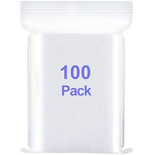 Mini Small Plastic Bags with Resealable Zip-Lock (Multiple Sizes Available and Multipack) - Clear Reclosable Poly Zipper Lock Storage Bag (3x4 inch 100 pcs)