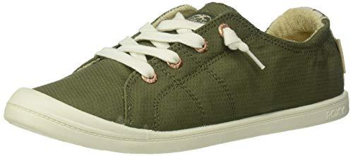 Roxy Women's Bayshore Slip On Sneaker Shoe, Army Green, 8 M US