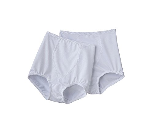Bali Light Control 2-Pack Tailored Briefs with Tummy Panel White XXL