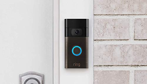 Ring Video Doorbell – newest generation, 2020 release – 1080p HD video, improved motion detection, easy installation – Venetian Bronze