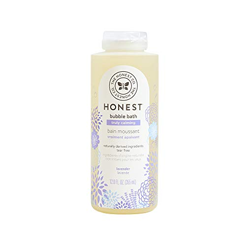The Honest Company Truly Calming Lavender Bubble Bath Tear Free Kids Bubble Bath Naturally Derived Ingredients & Essential Oils Sulfate & Paraben Free Baby Bath 12 Fl. Oz.