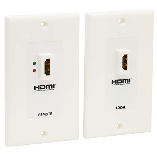 Tripp Lite HDMI over Dual Cat5/Cat6 Extender Wall Plate Kit with Transmitter and Receiver, TAA, 3 Year Warranty (P167-000),Multicolor