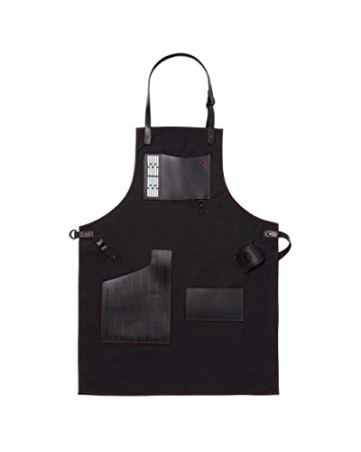 W&P Limited Star Wars Collection Apron, Premium Leather, Darth Vader, For Bartending, Baking, BBQ Grilling, and More, Kitchen Essentials