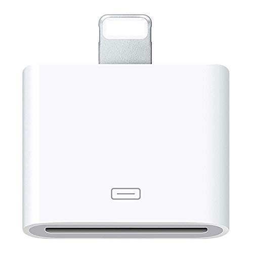 AKWOR 30 Pin Adapter | 8 Pin Male to 30 Pin Female | Works with Smartphones, Cars, Docking Stations and More - White