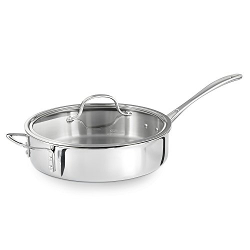 Calphalon Tri-Ply Stainless Steel 3-Quart Saute Pan with Cover