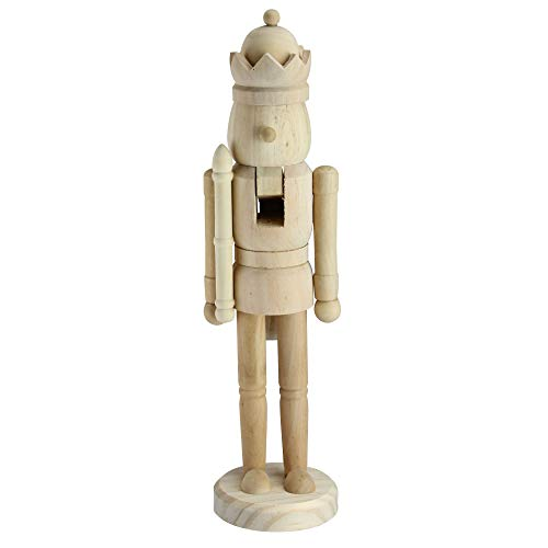 Northlight 14.5' Traditional Unfinished Wood Paintable Nutcracker