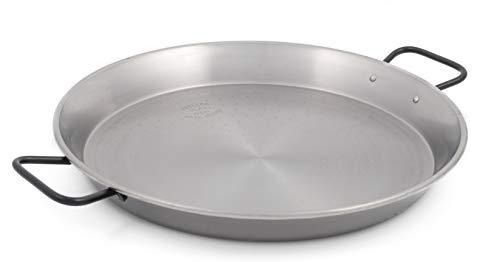 Garcima 16-inch Pata Negra Restaurant Grade Paella Pan, 40cm, Medium, Silver